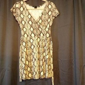 Snakeskin pattern minidress